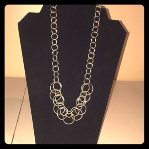 "20"". Metal rings necklace .   Lia Sophia"